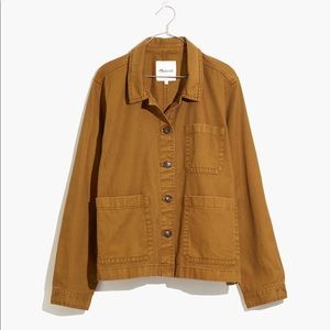 NWT Madewell garment dyed chore coat M